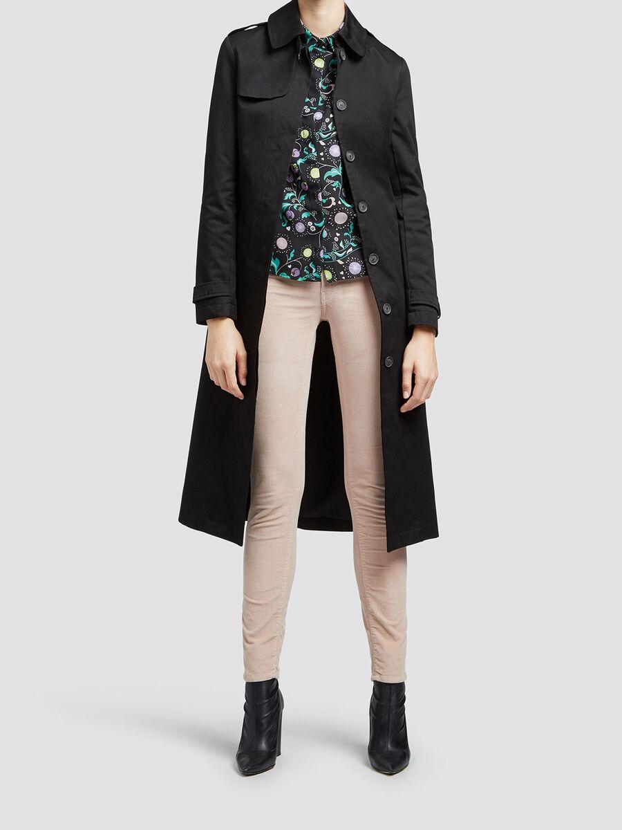 Stueck gefaerbte Skinny Fit Jeans