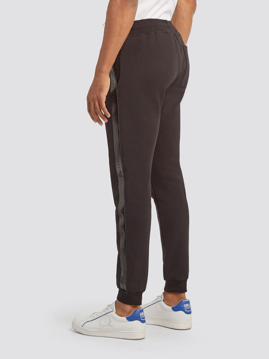 Cotton jogging bottoms with bands