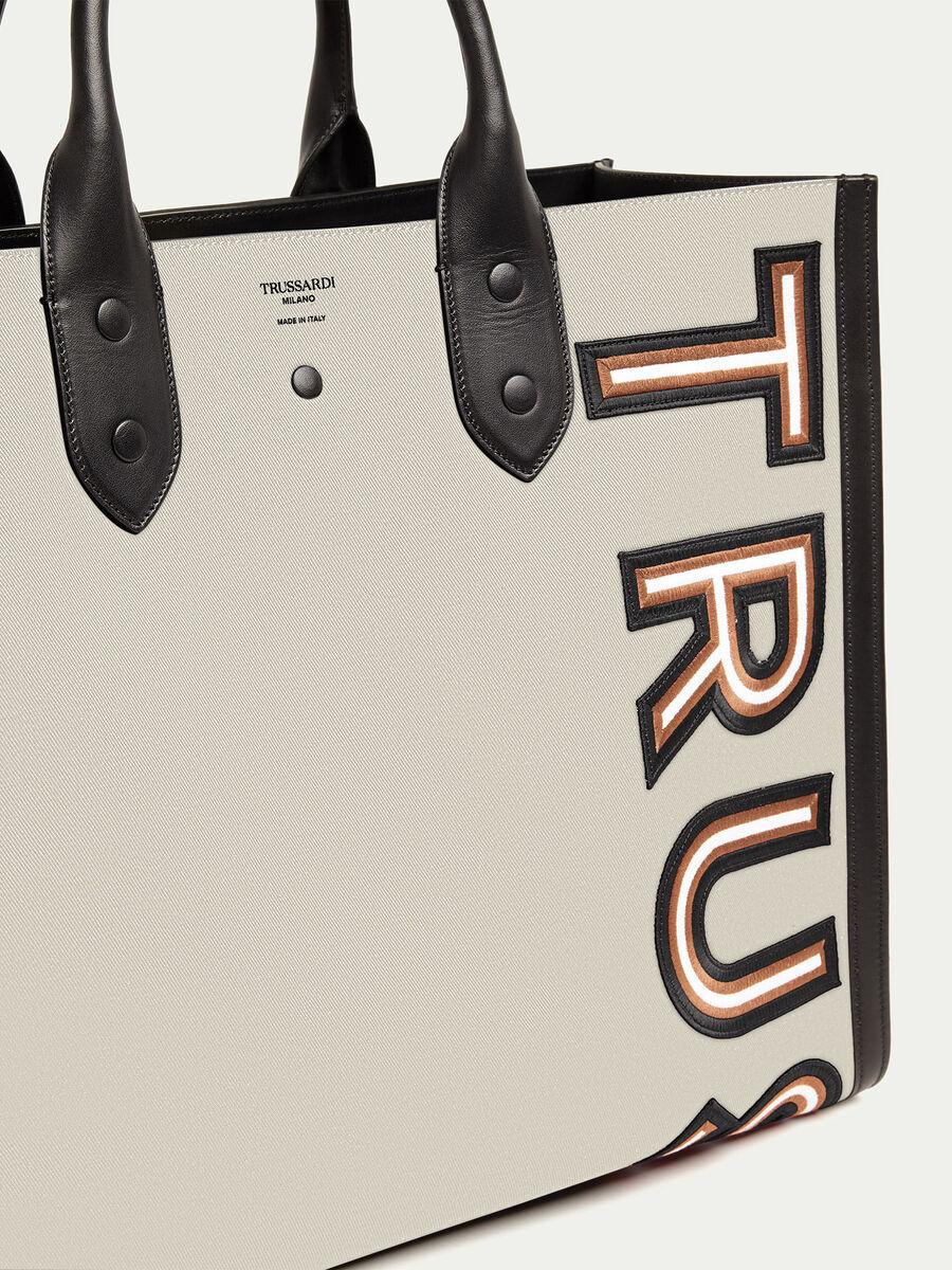 Shopping Bag con patch logata