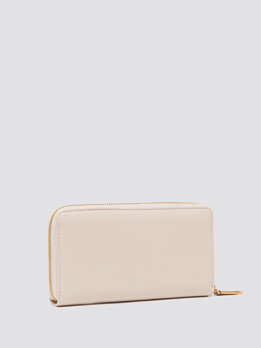 Zip around wallet with velvet lace detail