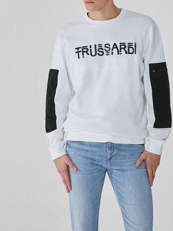 Sweatshirt im Regular-Fit aus Baumwolle mit Print
