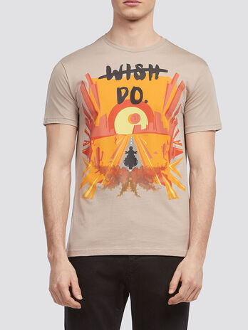 T Shirt aus Jersey mit Roadtrip Print