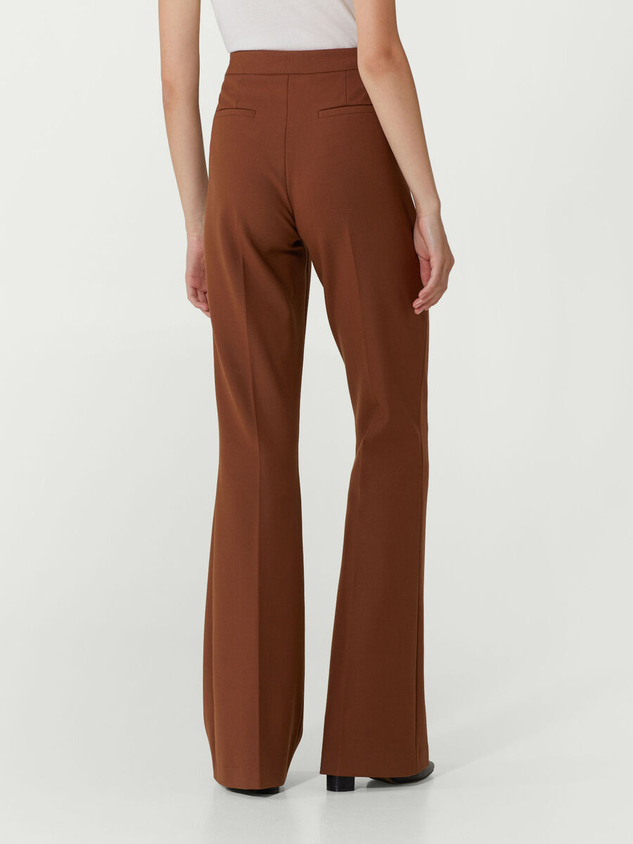 New Bell flared tricotine trousers