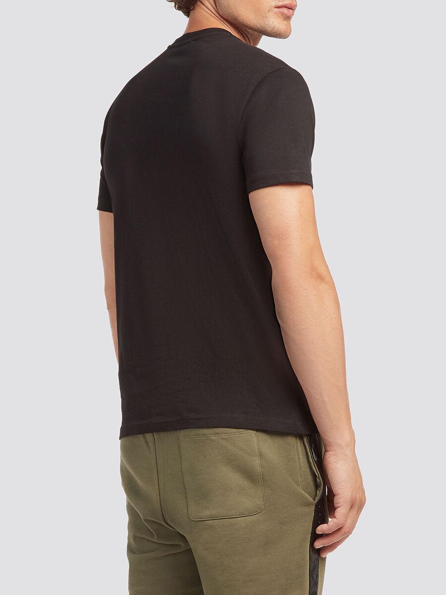 T shirt in tinta unita stampata