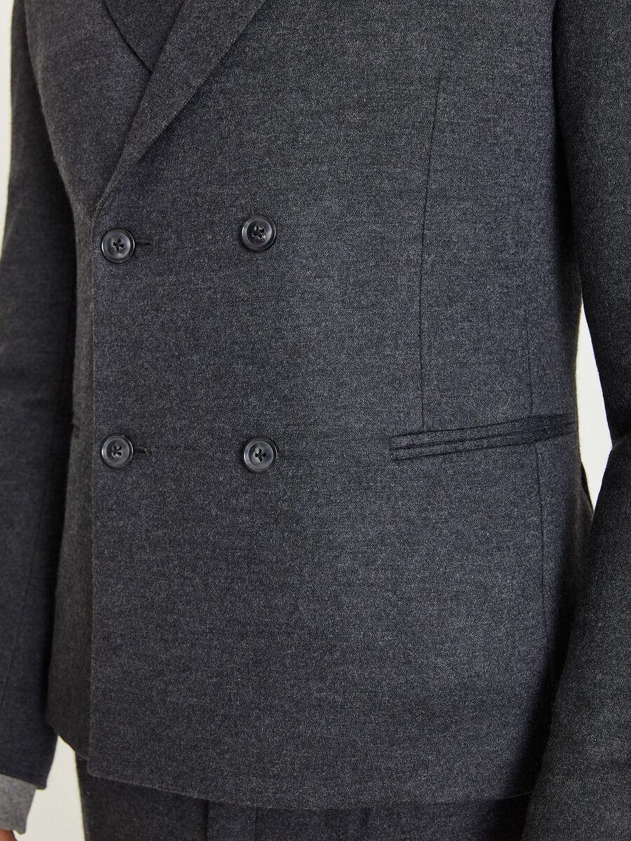 Giacca in misto lana a quattro bottoni