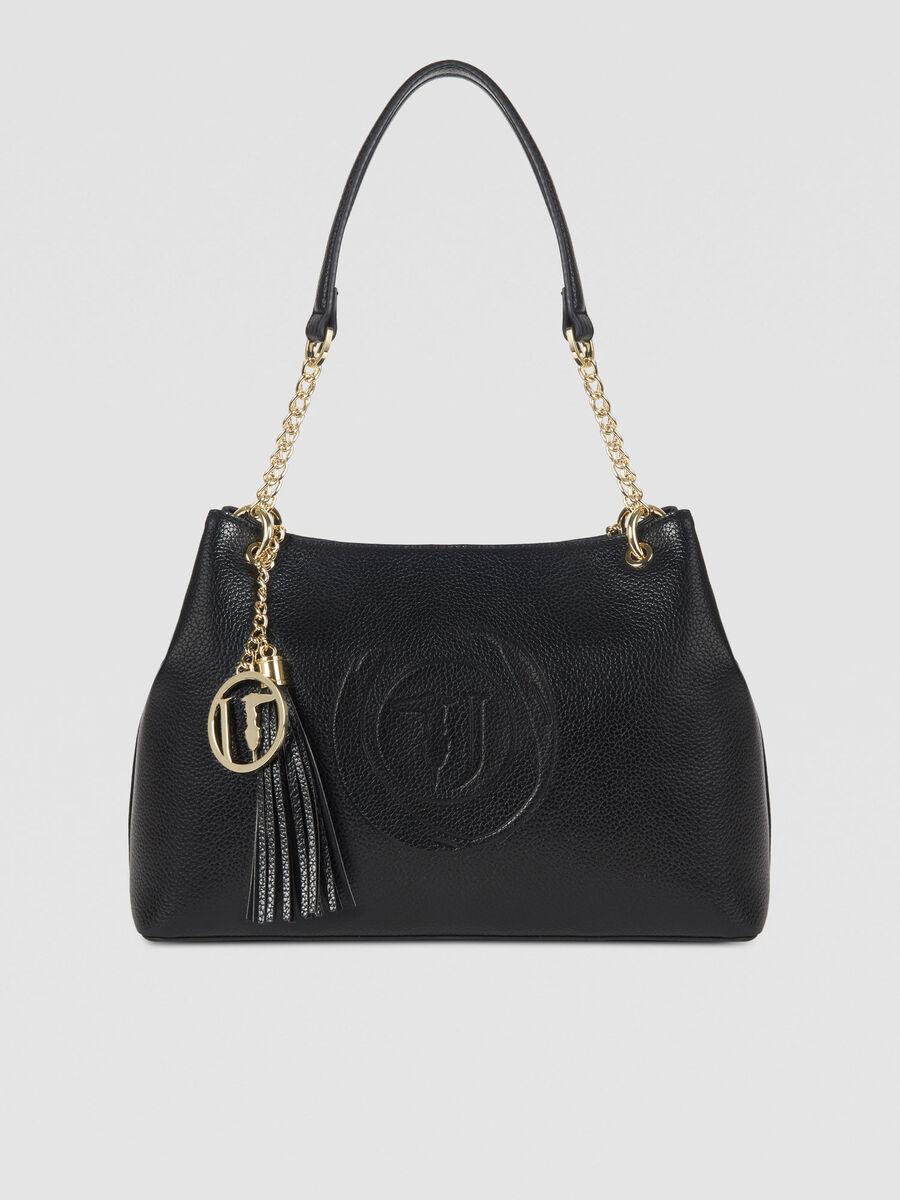 Medium Faith hobo bag in faux leather with logo