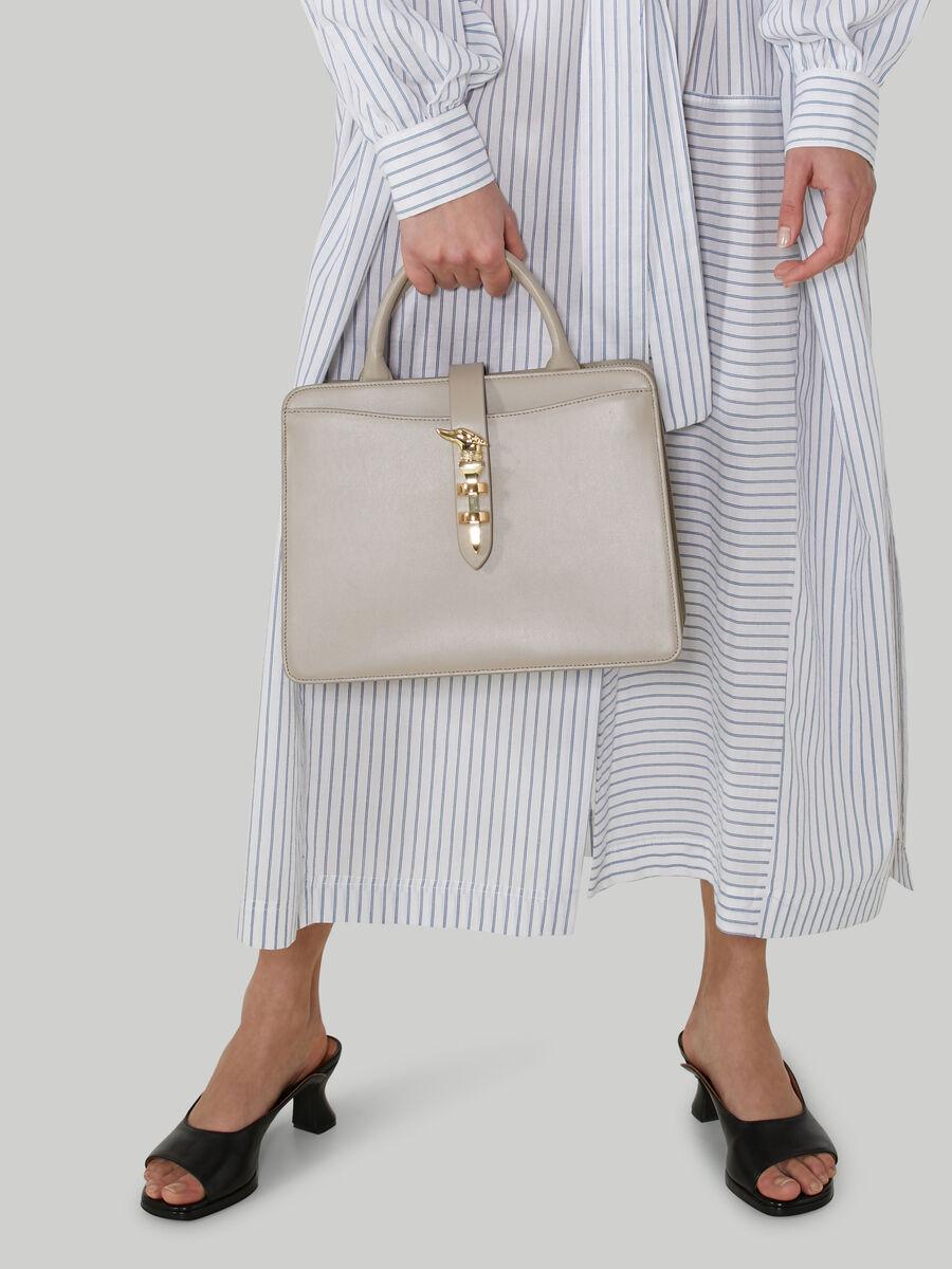 Medium leather Leila tote bag
