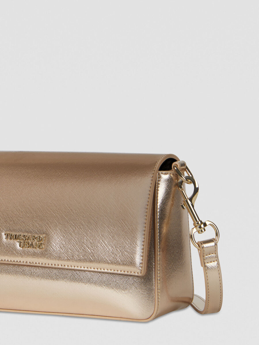 Bella crossbody bag in laminated faux leather