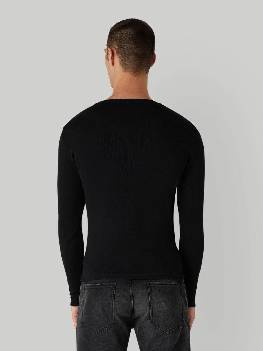 T-shirt coupe classique en coton côtele
