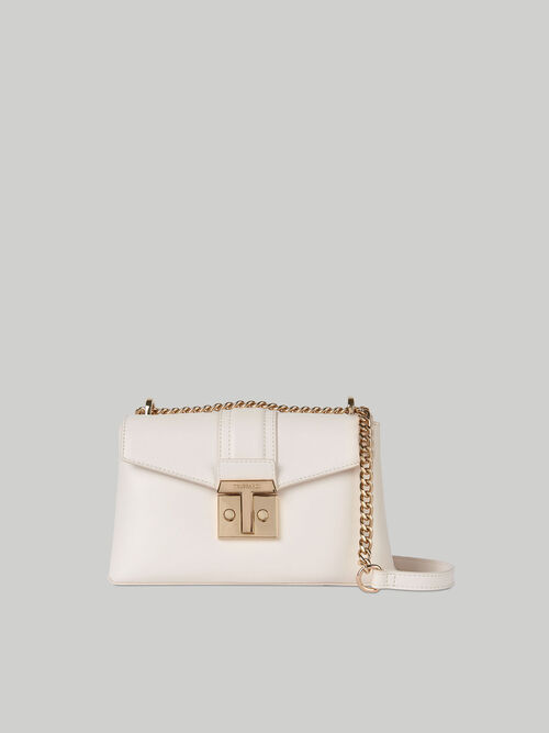 Medium Tulip crossbody bag in plain faux leather