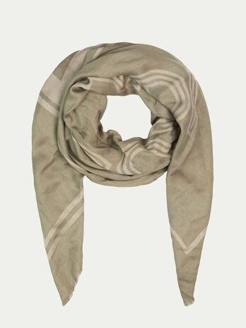 1a61f3dd64773 Écharpes et foulards Femme. TRUSSARDI. Pashmina en soie et viscose a logo  sur les rayures
