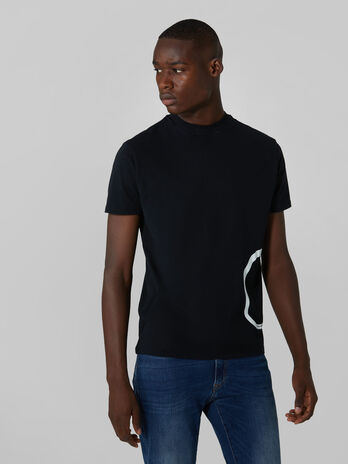 Boxy fit cotton jersey T-shirt