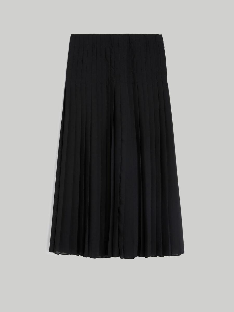 Pleated georgette skirt