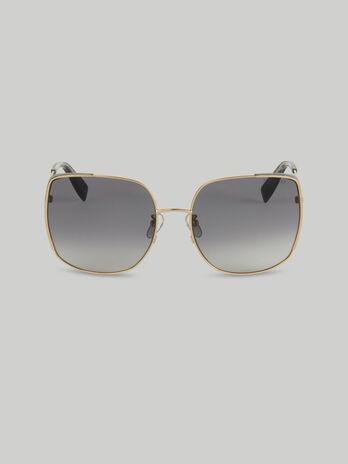 Oversize-Sonnenbrille aus Metall