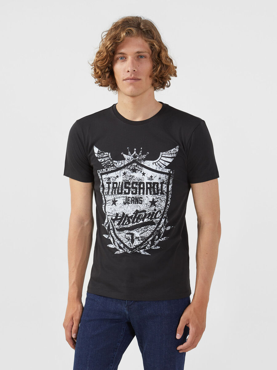 Regular fit cotton jersey T-shirt with print