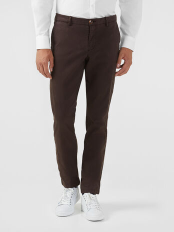 Pantalon coupe aviateur en satin stretch