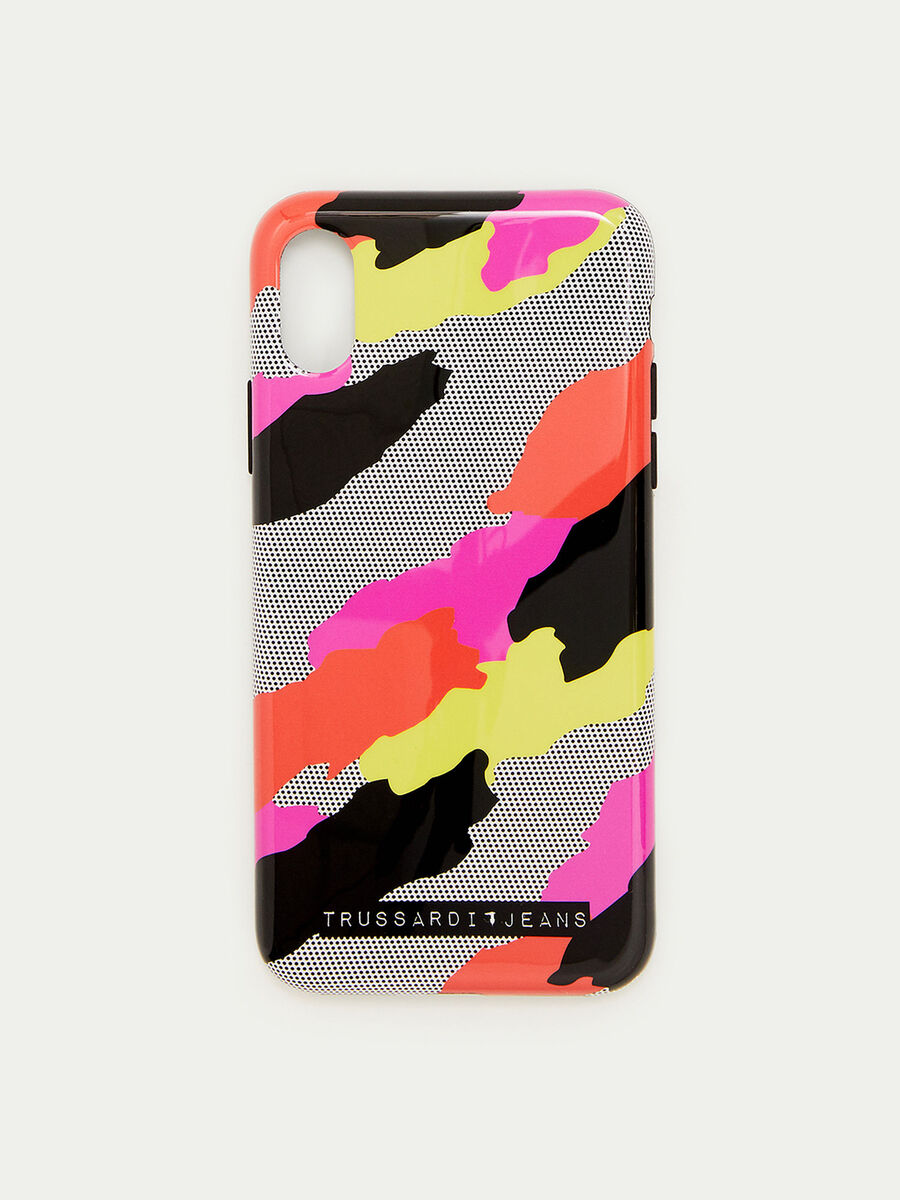 Soft iPhone X case with pop style camouflage design