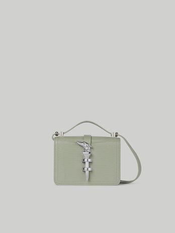 Mini Leila crossbody bag with lizard print