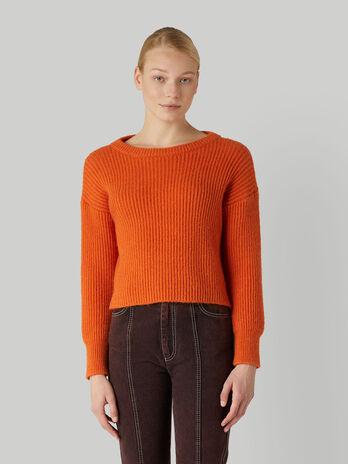 Boxy ribbed pullover