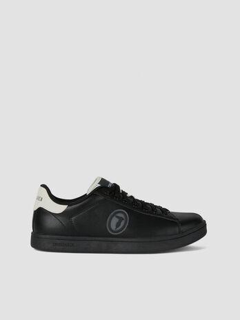 Sneaker in similpelle con logo