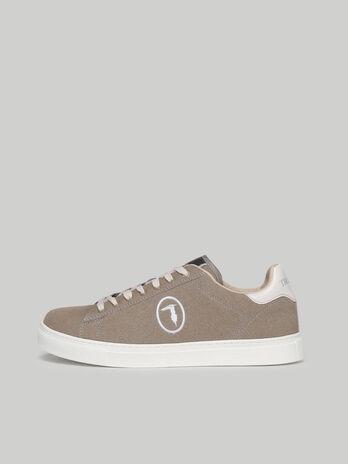 Suede Danus sneakers with monogram embroidery