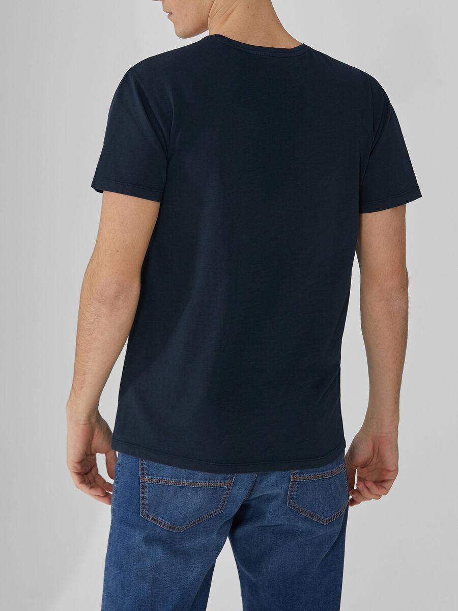Camiseta de punto de algodon con botones