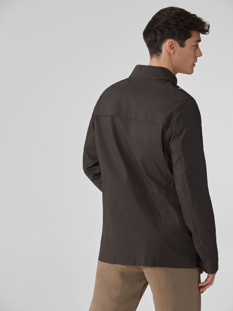 Cotton and nylon field jacket