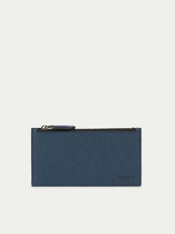 Maxi Portafogli porta carte in pelle e stampa saffiano