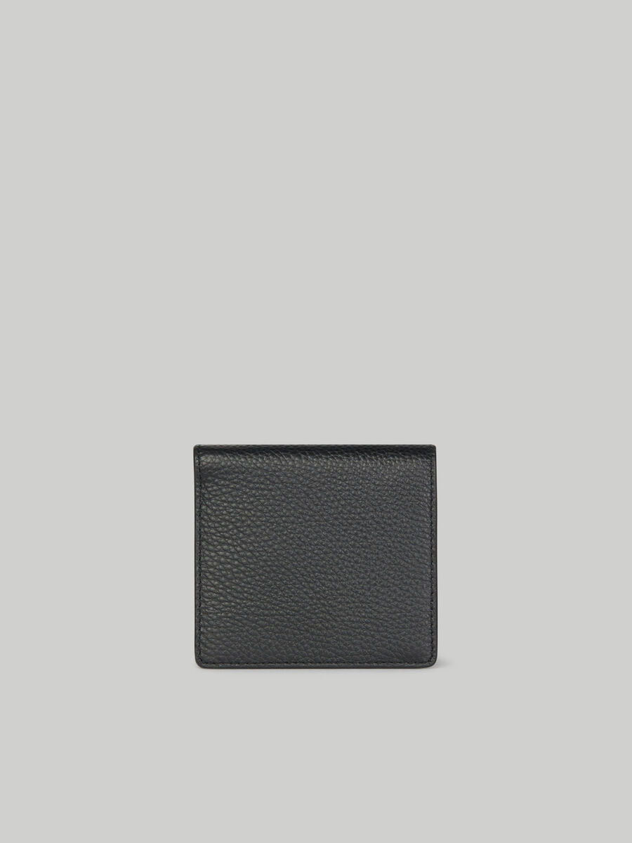 Hammered leather wallet