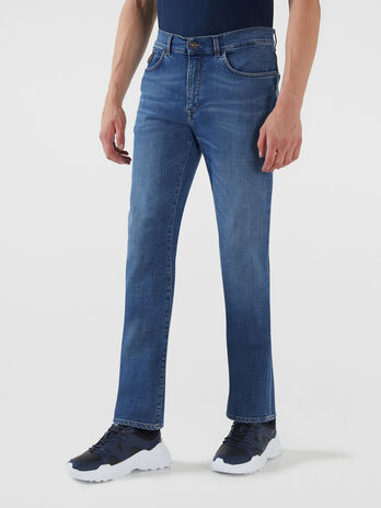 Jeans 380 Icon in denim selecia blu