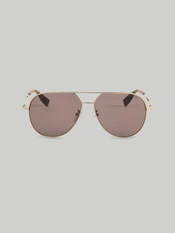 Flieger-Sonnenbrille aus goldfarbenem Metall