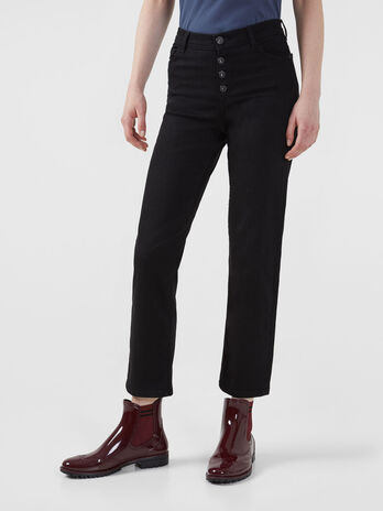 Buttoned 105 jeans in black Diego denim