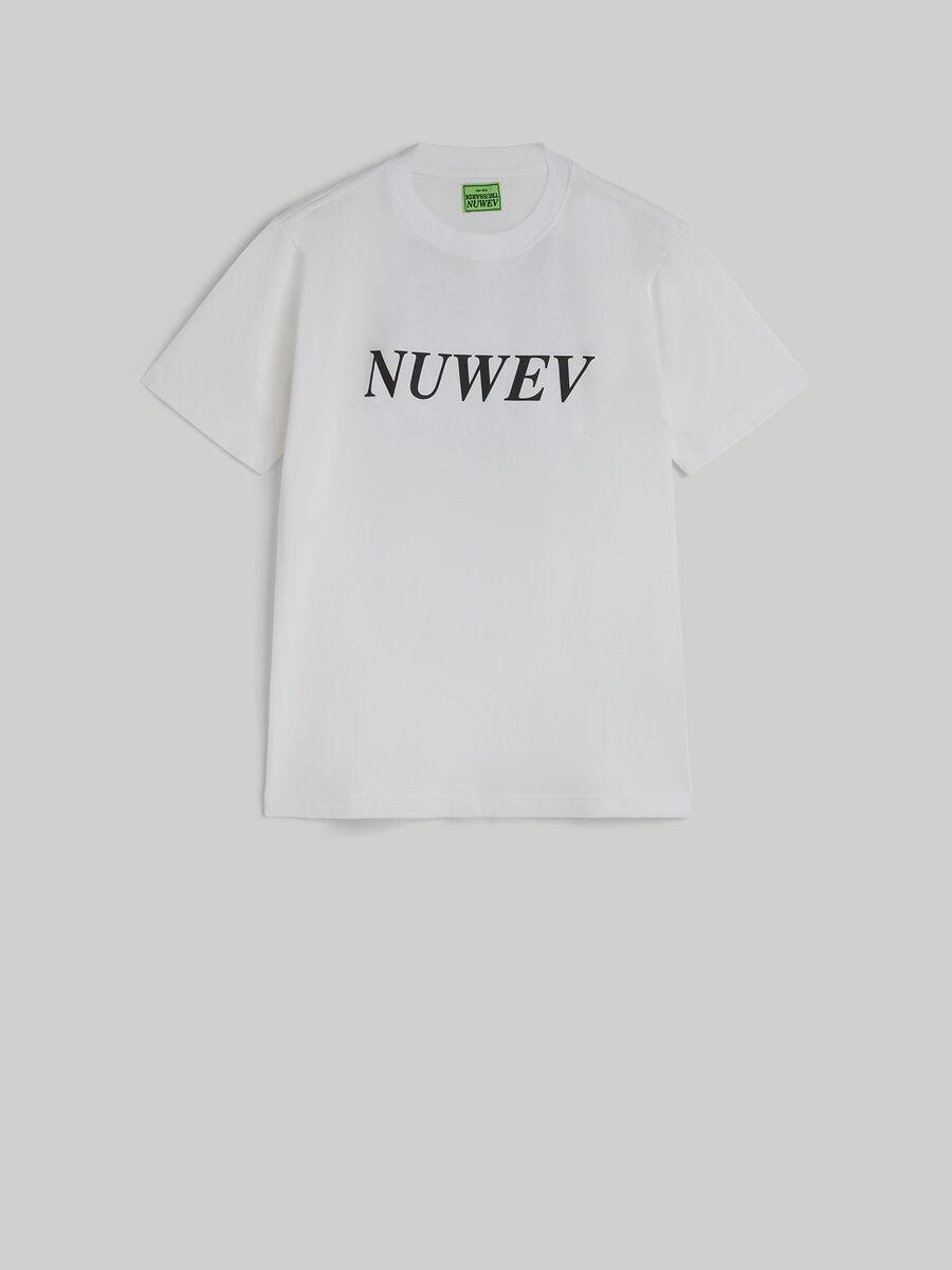 T-shirt coupe over en jersey de coton a imprime