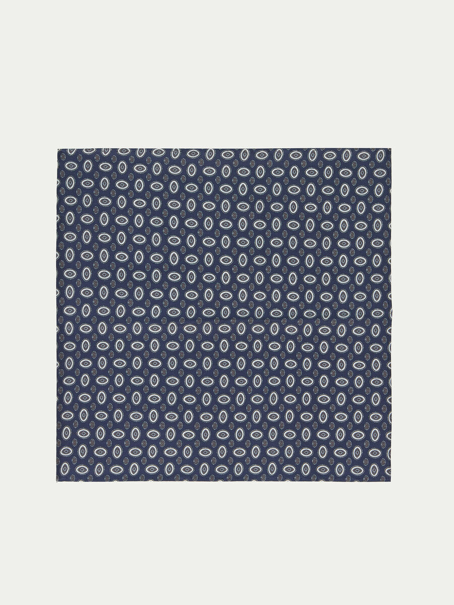 Handkerchief with stylised oval pattern