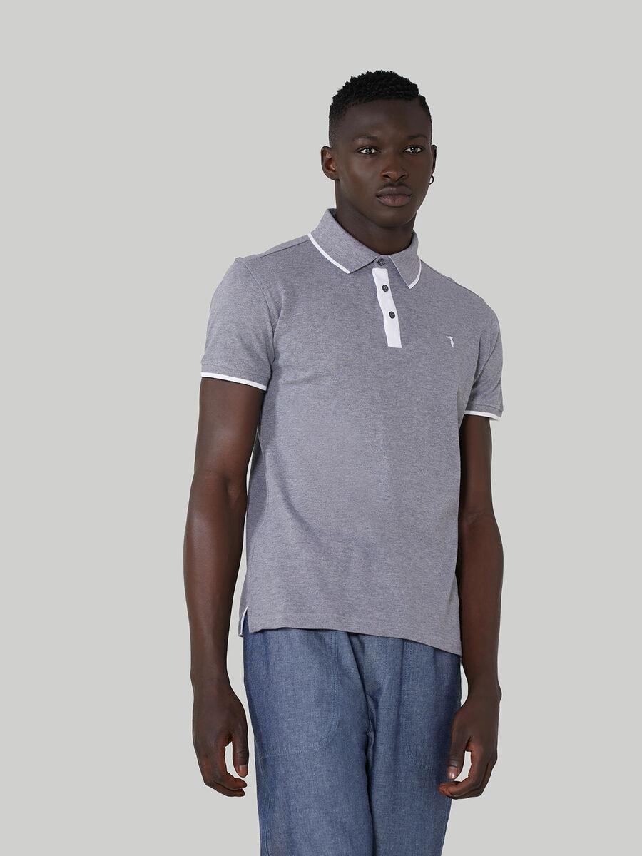 Polo regular fit in piquet di cotone