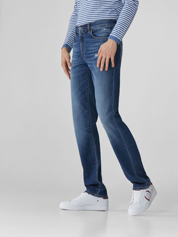 Jeans 380 Icon in denim di cotone con logo