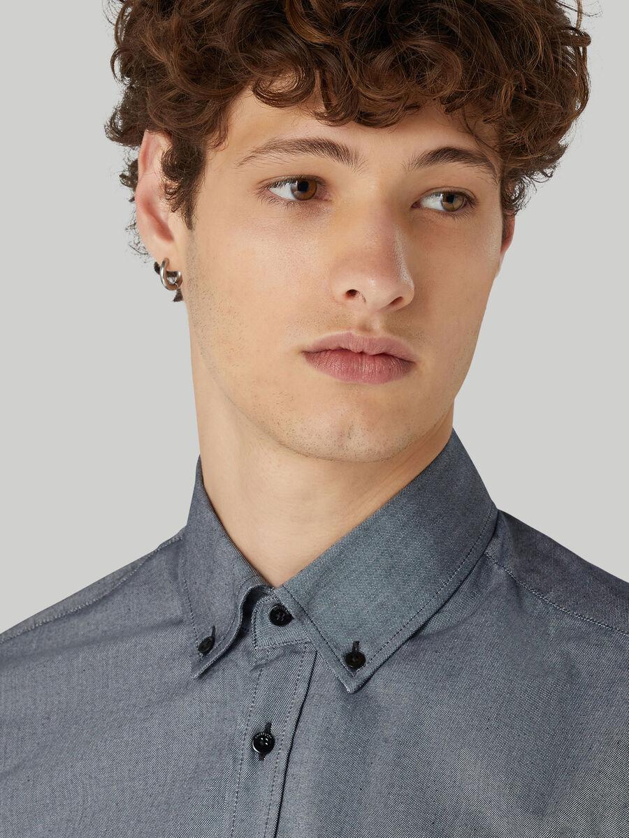 Close-fit cotton Oxford shirt