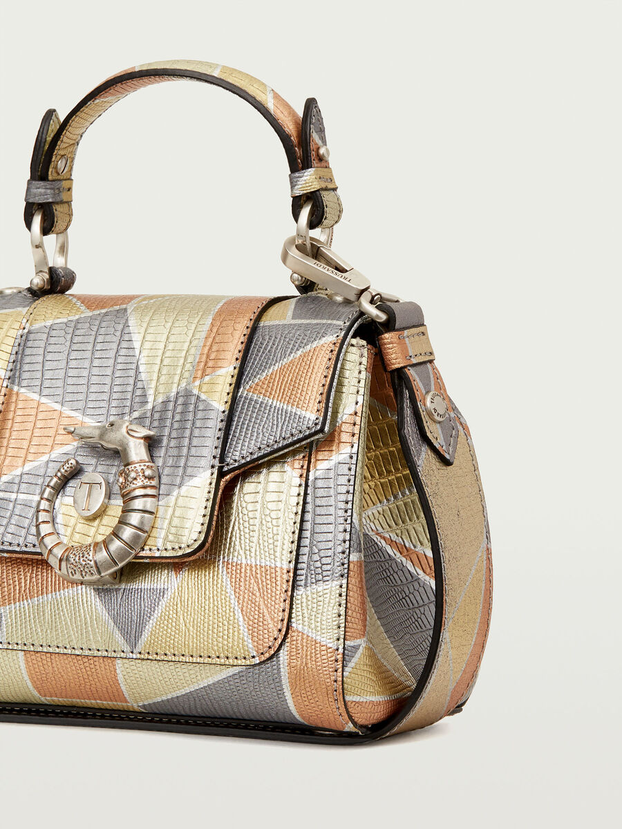Mini Lovy Bag in mosaic printed leather