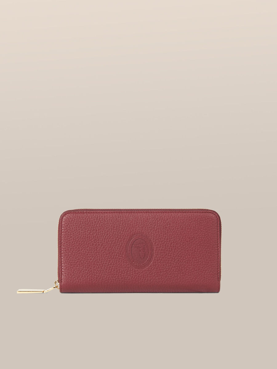 Leather Olivia zip around purse