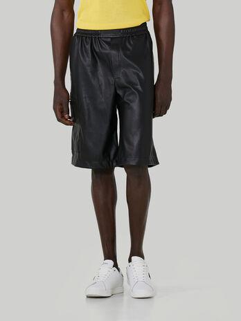 Matte faux leather shorts