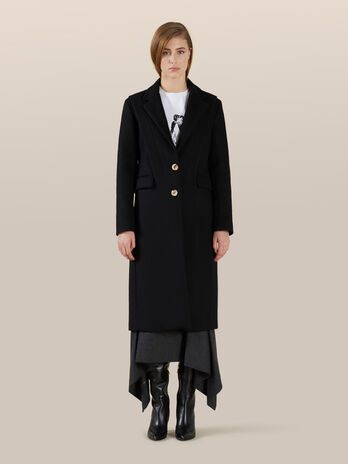 Cappotto slim fit in lana
