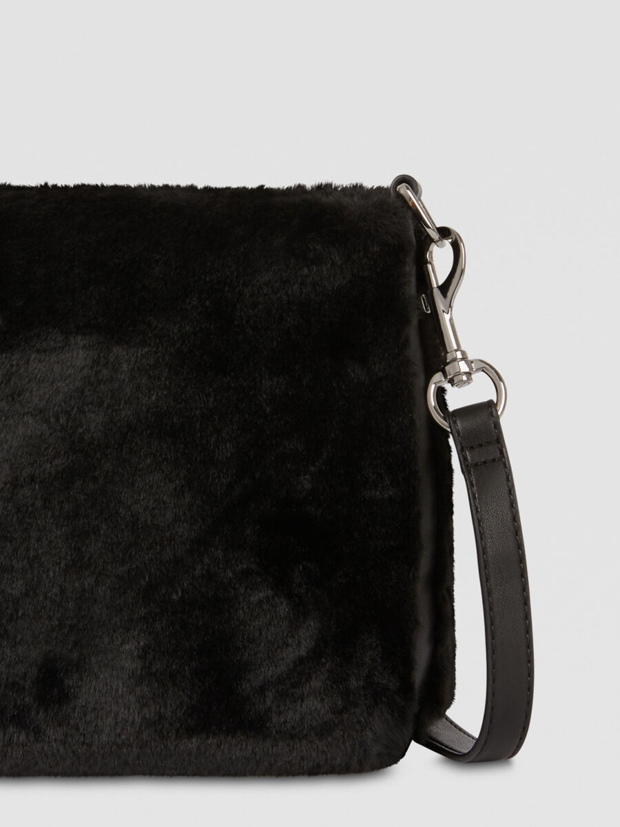 Small T-Wow bucket bag in faux fur