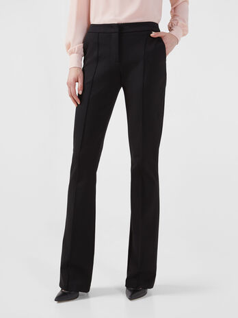 Compact jersey trousers