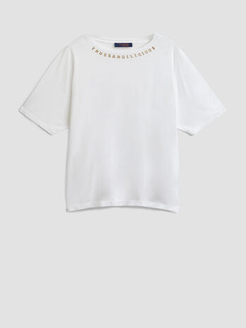 Oversized viscose jersey T-shirt