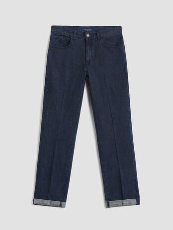 Glen plaid denim Icon 380 jeans