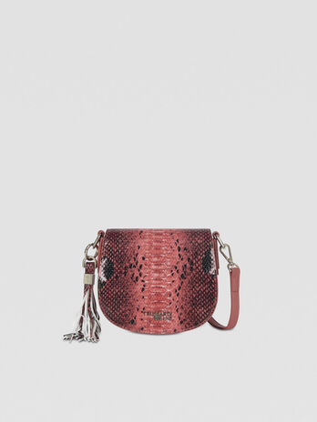 Small Iris Cacciatora bag in python-print faux leather