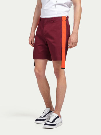 Stretch cotton gabardine shorts