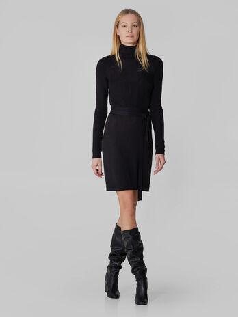 Vestido de hilado de lana merino