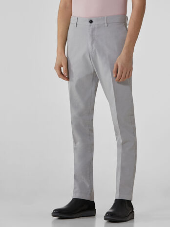 Pantaloni aviator fit in gabardina stretch