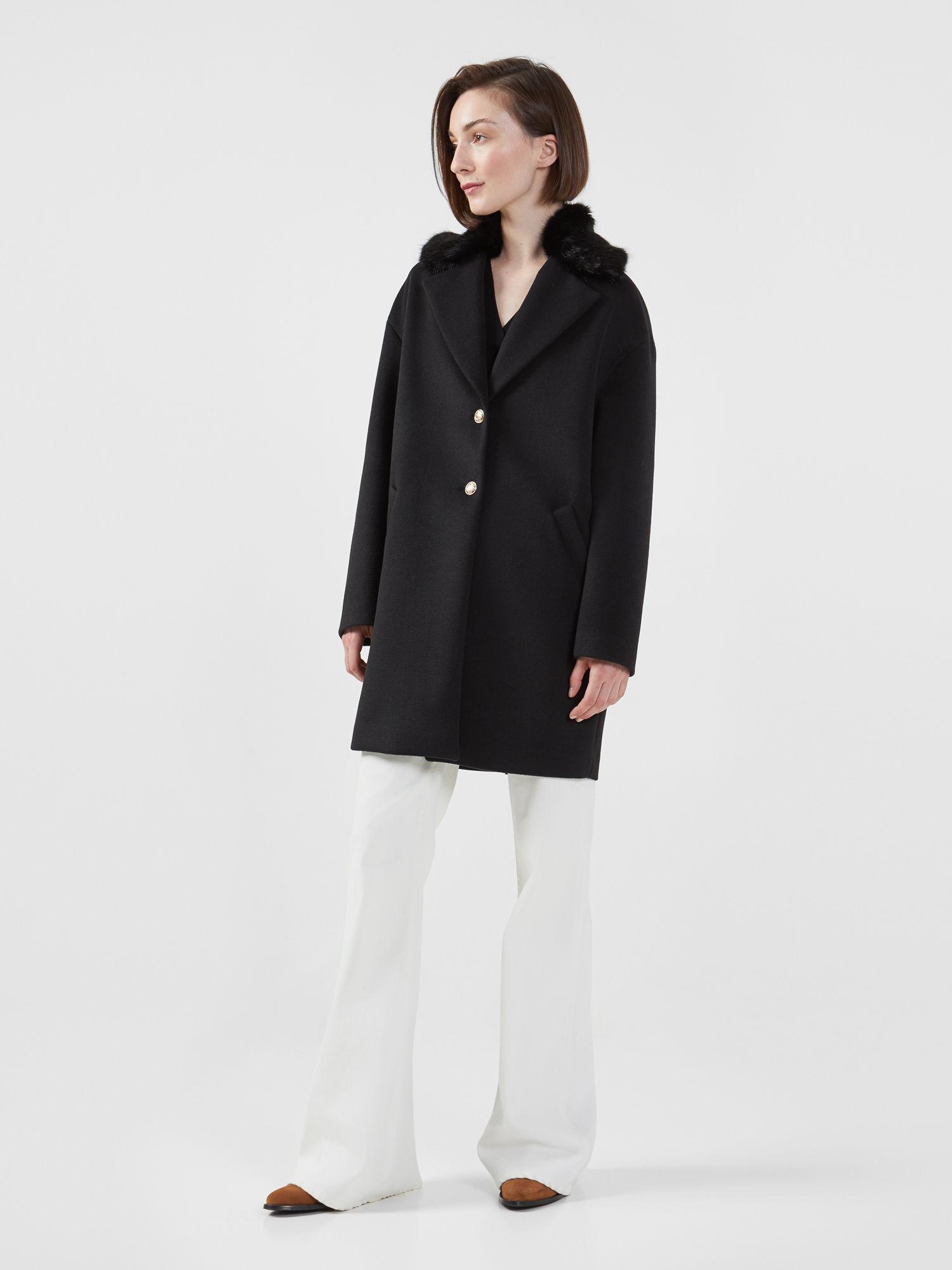 trussardi cappotti donna senza collo